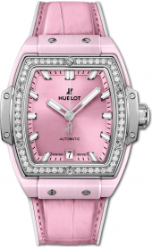 Hublot Spirit of Big Bang Pink Ceramic Titanium Diamonds 39 mm 665.RN.891P.LR.1204