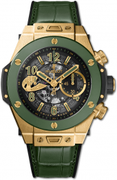 Hublot Big Bang Unico WBC Yellow Gold Green Ceramic 45 mm 411.VG.1189.LR.WBC19