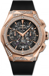 Hublot Classic Fusion Aerofusion Chronograph Orlinski King Gold Alternative Pave 45 mm 525.OX.0180.RX.1804.ORL19