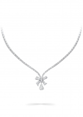 Колье Graff Bow Baguette Cut Diamond Necklace RGN 584