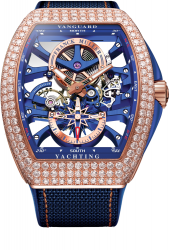 Franck Muller Vanguard Yachting Anchor™ Skeleton Classic V 45 S6 SQT ANCRE YACHT D (BL)