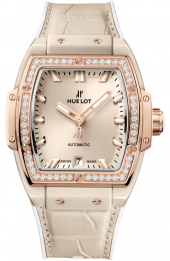 Hublot Spirit of Big Bang Beige Ceramic King Gold Diamonds 39 mm 665.CZ.898B.LR.1204