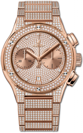 Hublot Classic Fusion Chronograph King Gold Full Pave Bracelet 45 mm 520.OX.9010.OX.3704