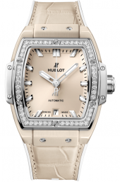 Hublot Spirit of Big Bang Beige Ceramic Titanium Diamonds 39 mm 665.CZ.891B.LR.1204
