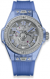 Hublot Big Bang One Click Blue Sapphire Diamonds 39mm