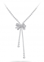 Колье Graff Bow Double Strand Round Diamond Necklace RGN 461
