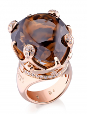 Кольцо Pasquale Bruni Sissi Smoky Quartz Gold Ring