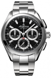 Alpina Alpiner 4 Manufacture Flyback Chronograph Black 44 mm AL-760BS5AQ6B
