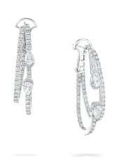 Серьги Graff Duet Diamond Double Hoop Earrings RGE1567