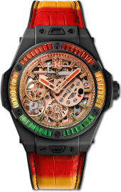"Hublot Big Bang Meca-10 ""Nicky Jam"" Ceramic ""X"" Setting 45 mm 414.CI.4010.LR.4096.NJA19"
