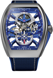 Franck Muller Vanguard Yachting Anchor™ Skeleton Classic V 45 S6 SQT ANCRE YACHT (BL)