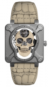 Bell & Ross Instruments BR 01 Laughing Skull White 46 mm BR01-SKULL-O-SK-ST